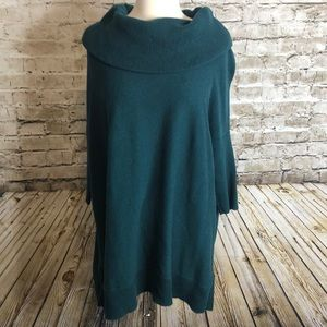 Chico's Cowl Neck Knit Sweater Size 1(M/8) Green
